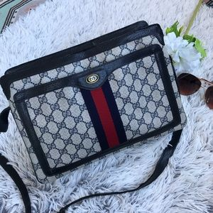 GUCCI Rare Vintage Supreme Accordion Bag